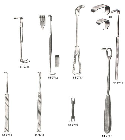 surgical instruments, retractors, langenbeck's retractors